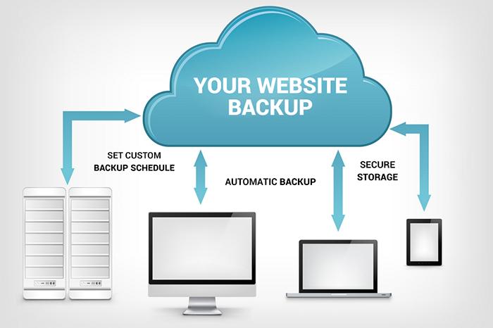 Backup website thường xuyên