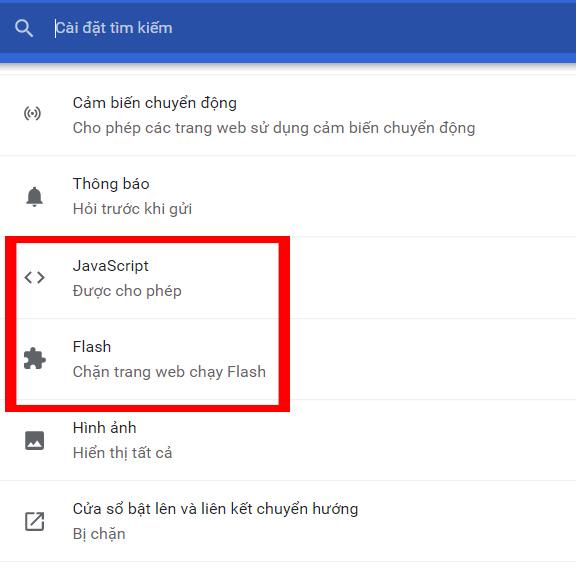 Sửa lỗi Plugin trên Chrome