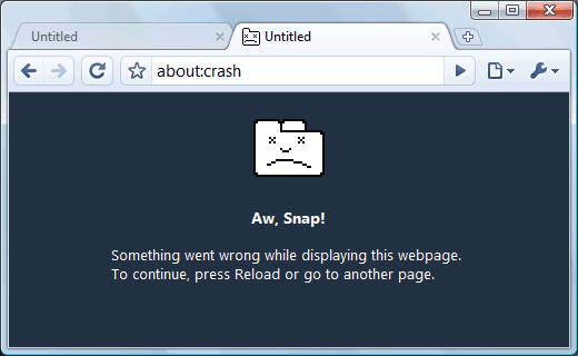 Lỗi Ôi, hỏng Google Chrome