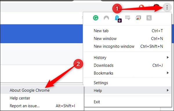 Lỗi Aw, Snap trên Chrome