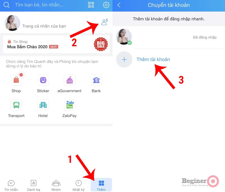 Cách chuyển đổi đăng nhập nhiều tài khoản Zalo trên điện thoại