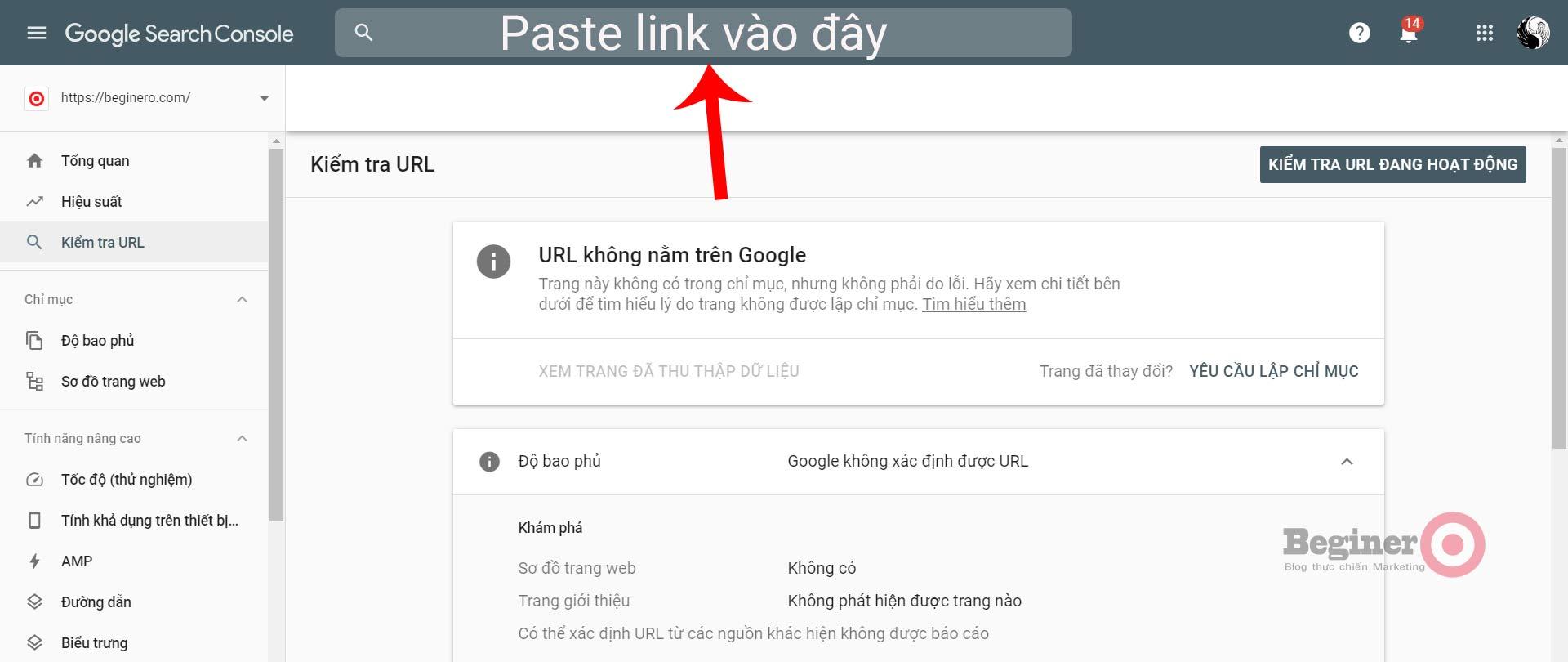 cách submit URL lên Google