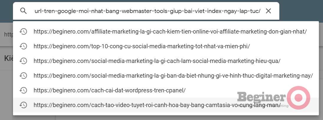 Cách submit URL lên Google mới nhất