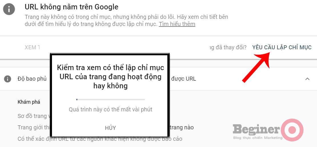 Hướng dẫn cách submit URL trên Google để index ngay