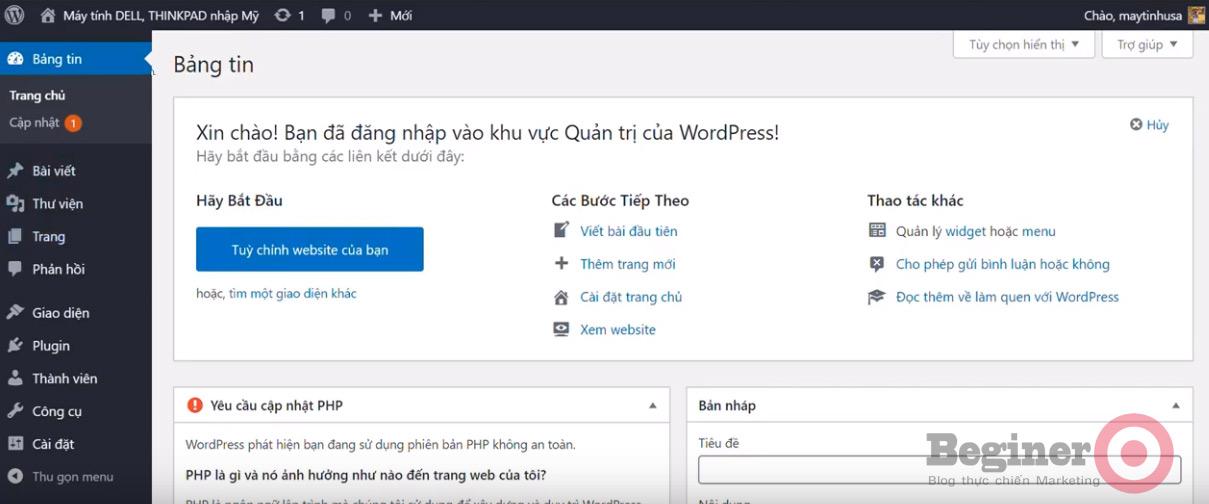 Cách cài đặt WordPress trên Cpanel đơn giản