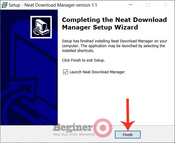 Cài đặt phần mềm tăng tốc download Neat Download Manager