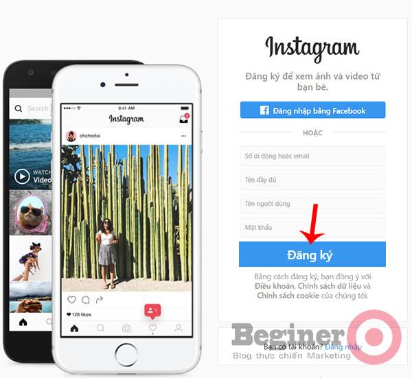 Hướng dẫn tạo tài khoản Instagram