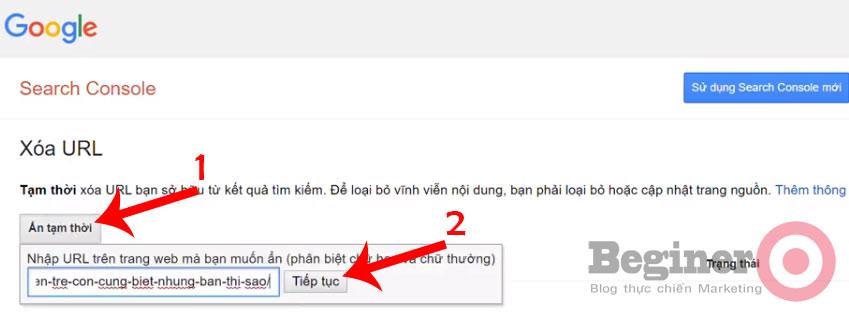 Hướng dẫn cách xóa URL trên Google nhanh nhất