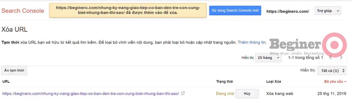 Cách xóa URL trên Google dễ nhất